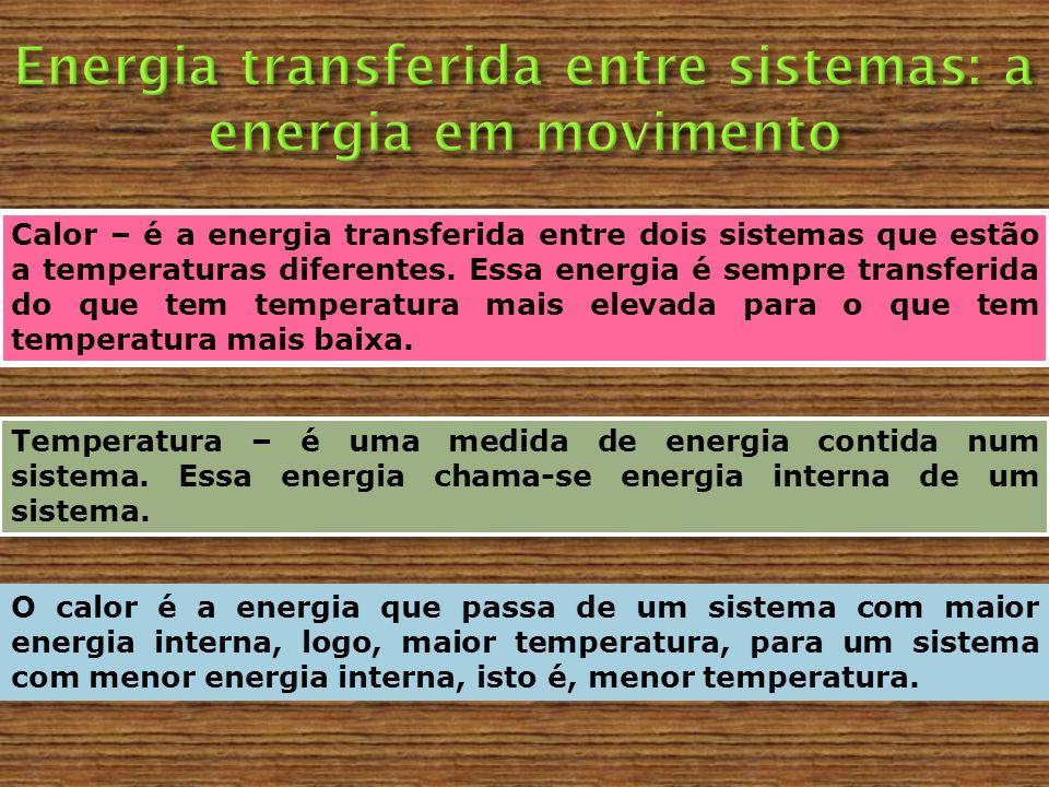 Energia transferida entre sistemas: a energia em movimento
