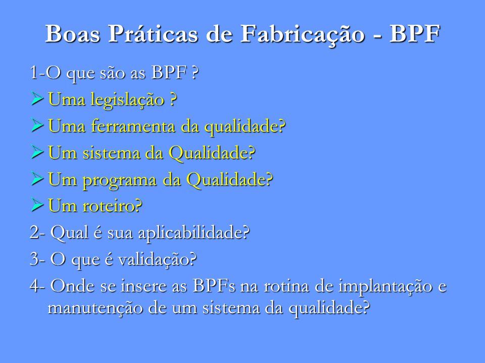 Boas Práticas de Fabricação - BPF