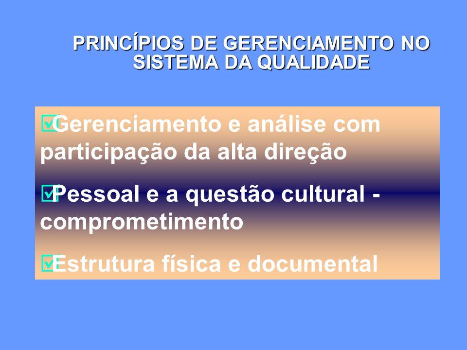 PRINCÍPIOS DE GERENCIAMENTO NO SISTEMA DA QUALIDADE