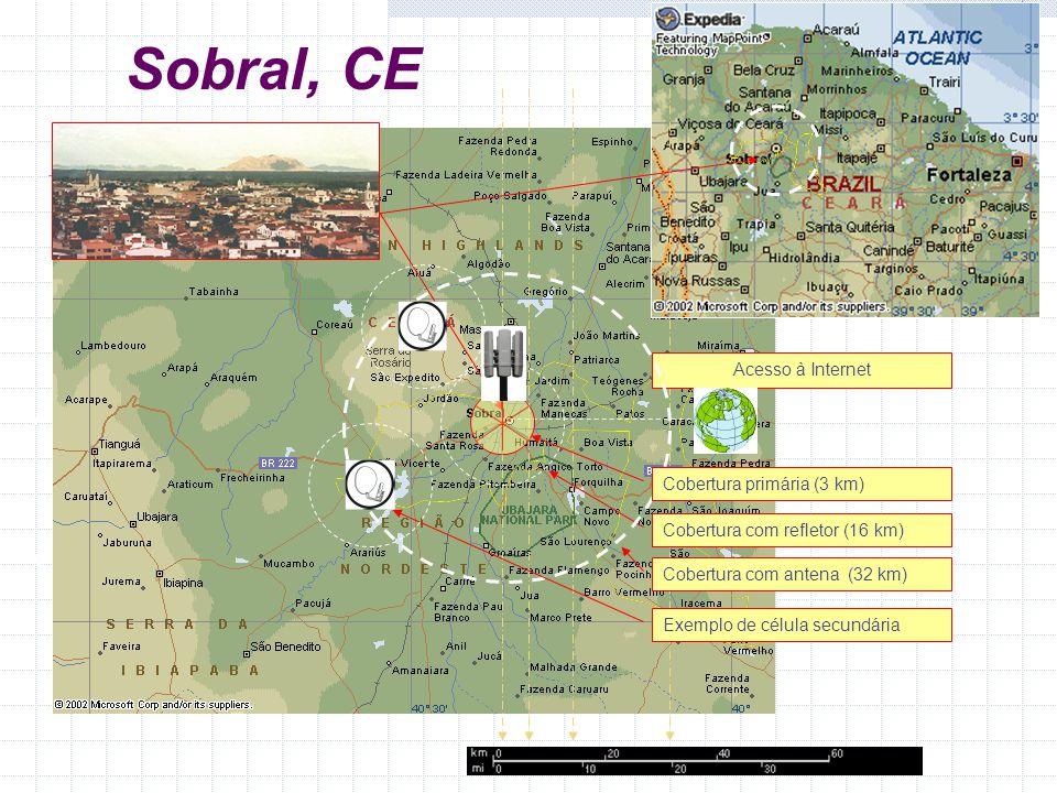Sobral, CE Acesso à Internet Cobertura primária (3 km)