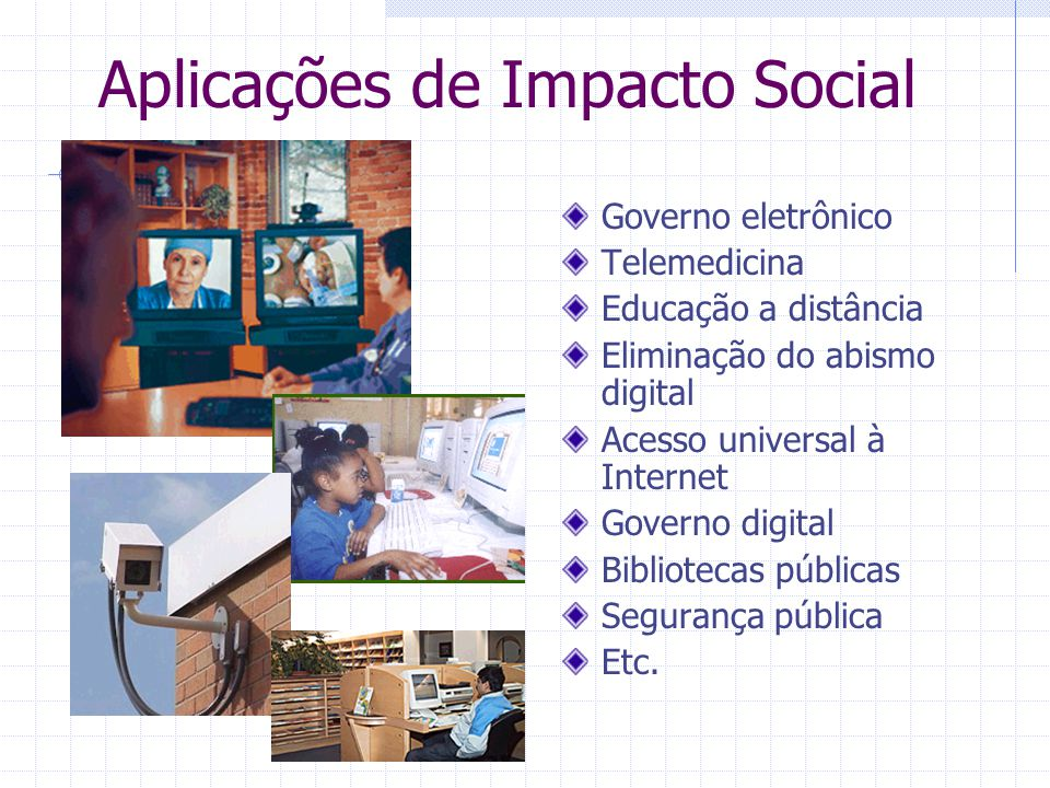Aplicações de Impacto Social