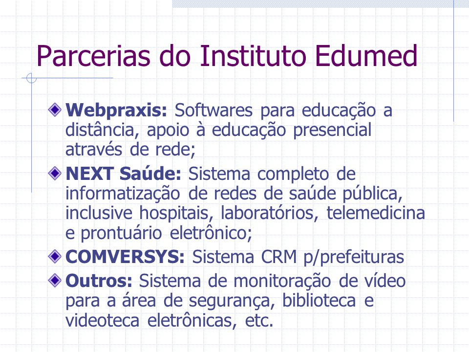 Parcerias do Instituto Edumed