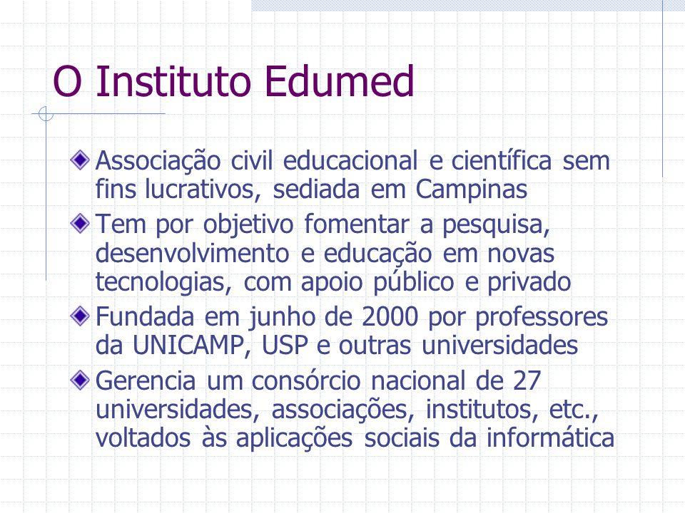 O Instituto Edumed Associação civil educacional e científica sem fins lucrativos, sediada em Campinas.