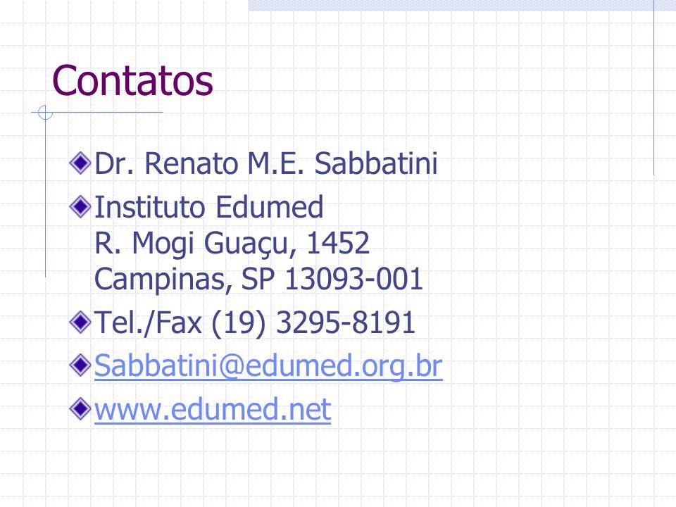 Contatos Dr. Renato M.E. Sabbatini