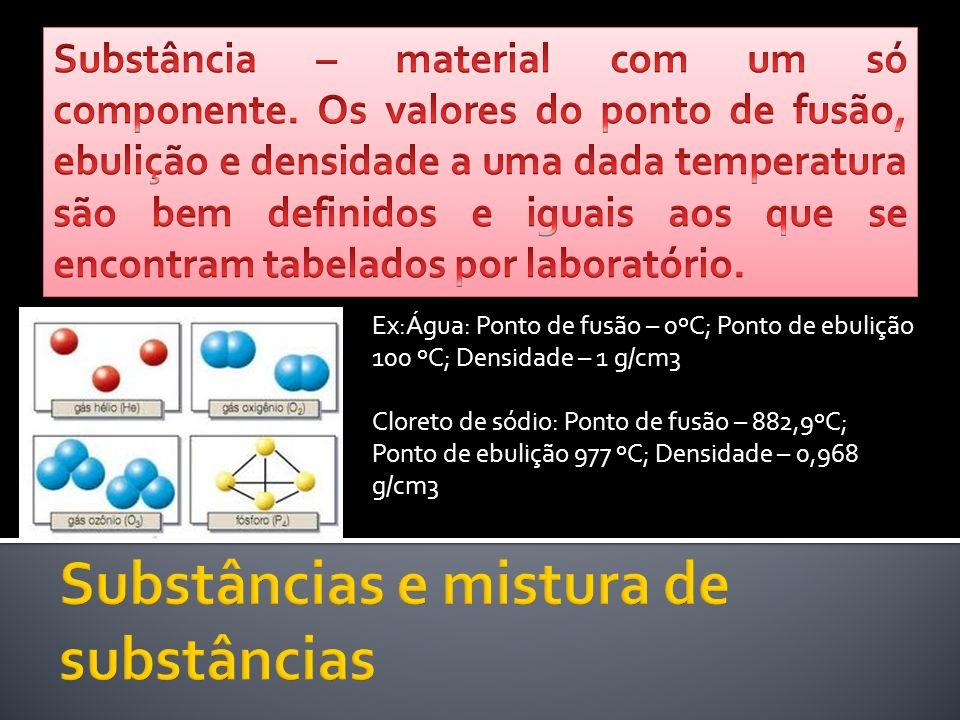 Substâncias e mistura de substâncias