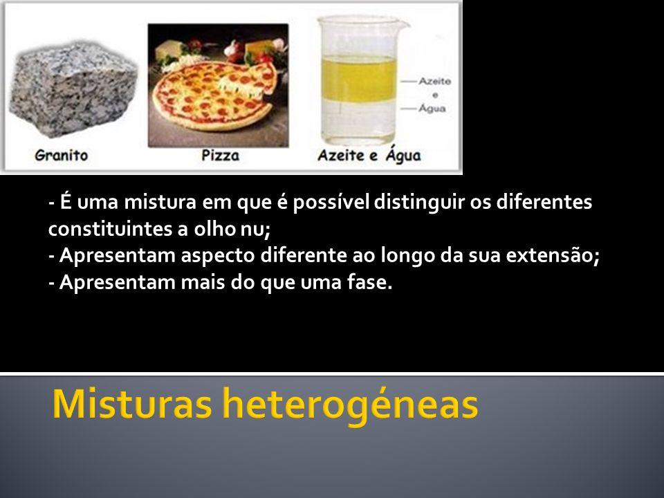 Misturas heterogéneas