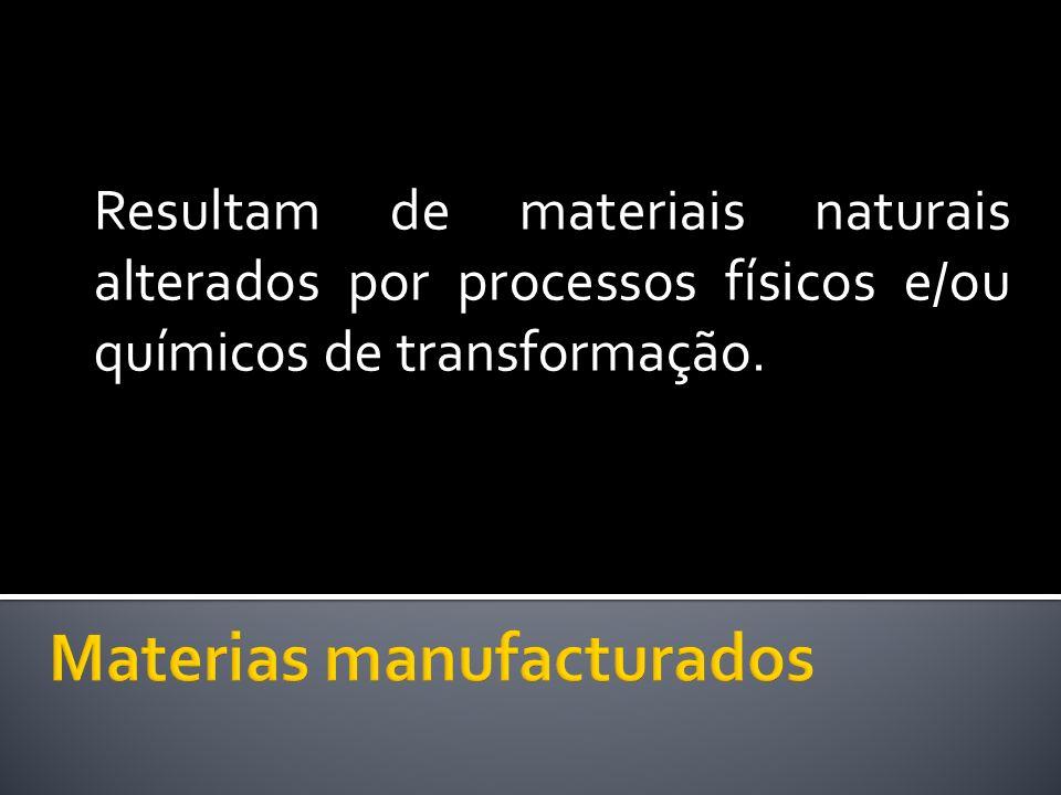 Materias manufacturados