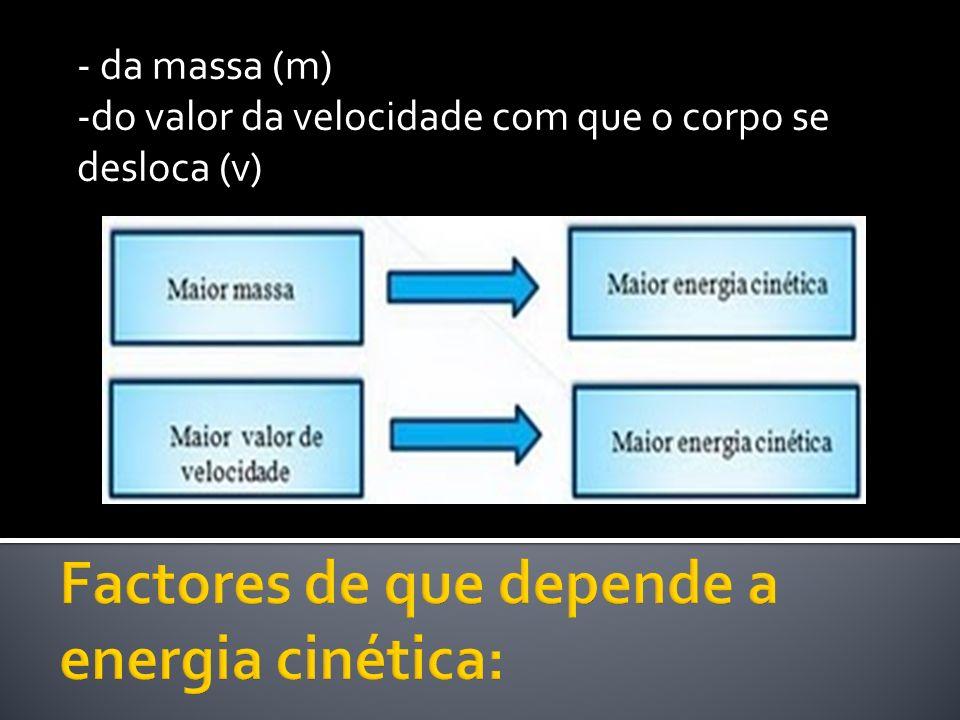Factores de que depende a energia cinética: