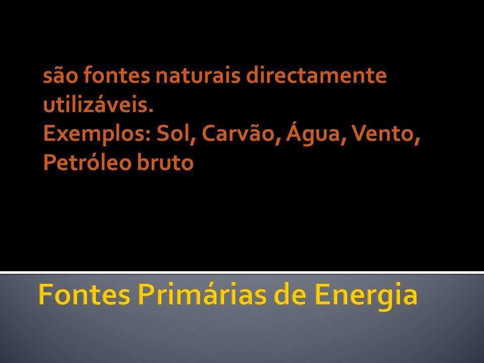 Fontes Primárias de Energia