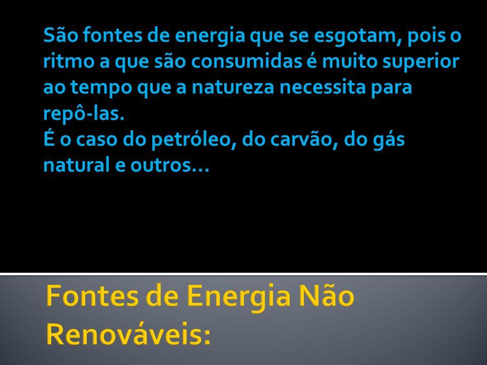 Fontes de Energia Não Renováveis:
