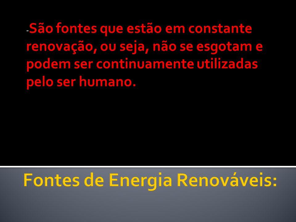Fontes de Energia Renováveis: