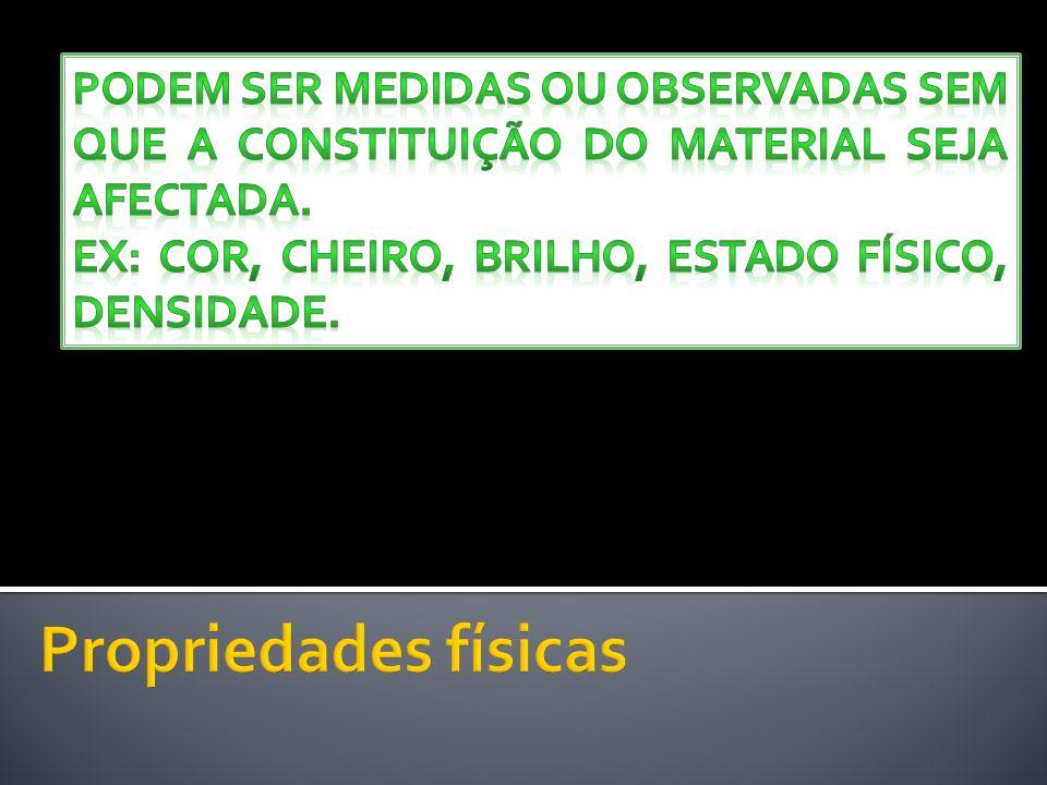 Podem ser medidas ou observadas sem que a constituição do material seja afectada.