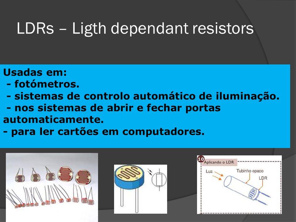 LDRs – Ligth dependant resistors