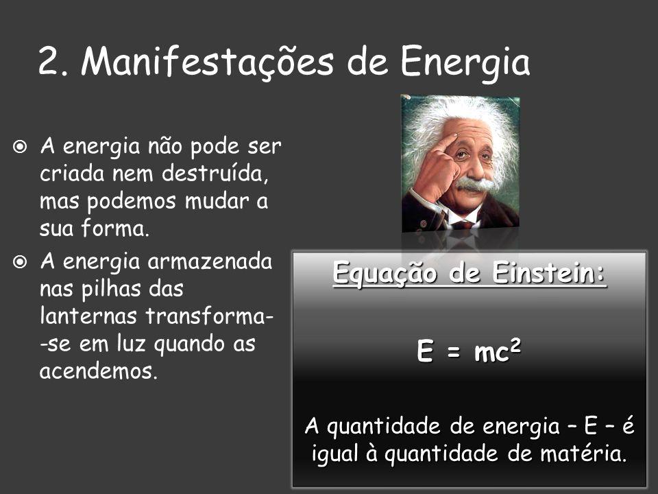 2. Manifestações de Energia