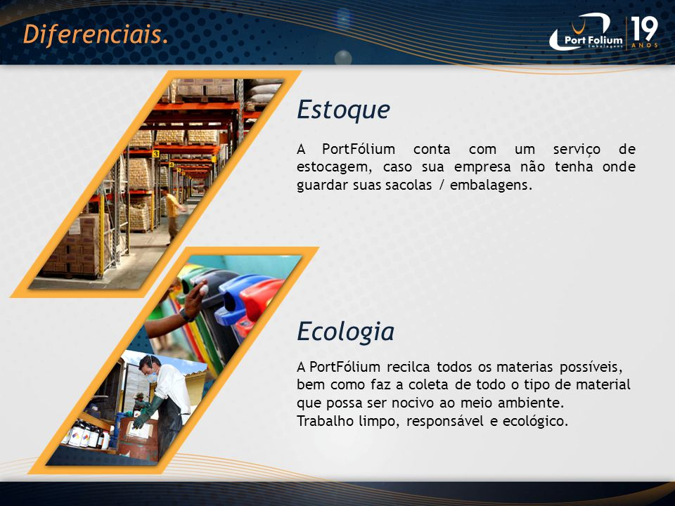 Diferenciais. Estoque Ecologia