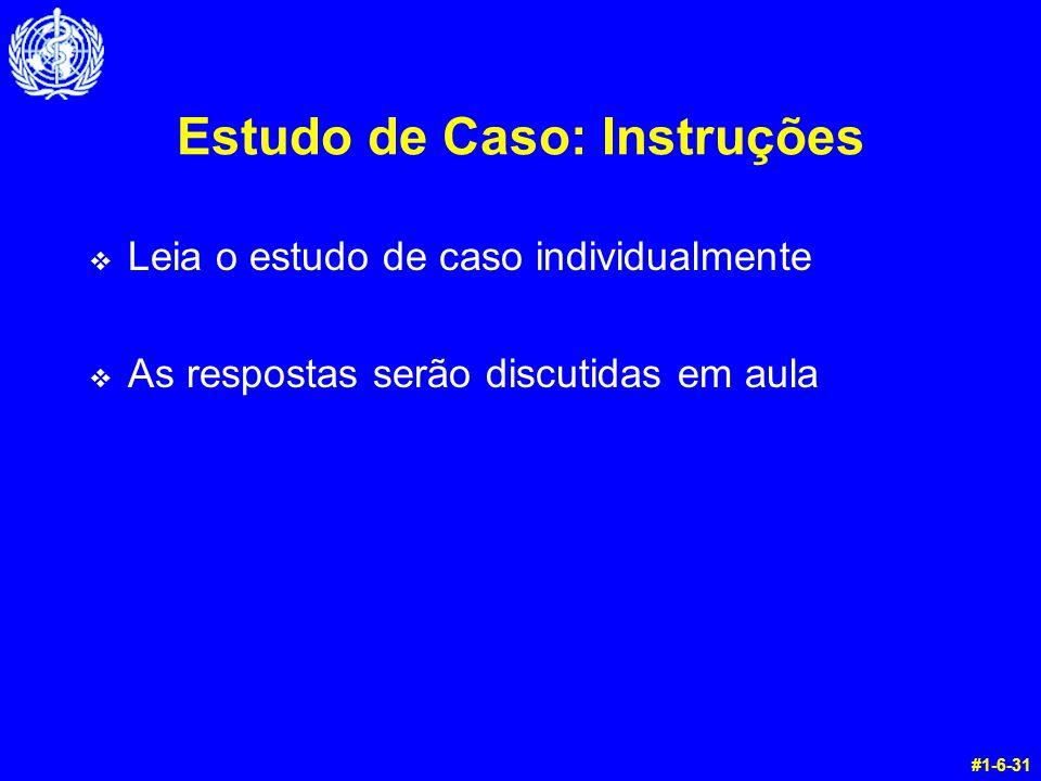 Estudo de Caso: Instruções
