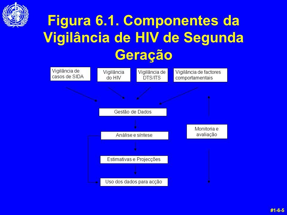 Figura 6.1. Componentes da Vigilância de HIV de Segunda Geração