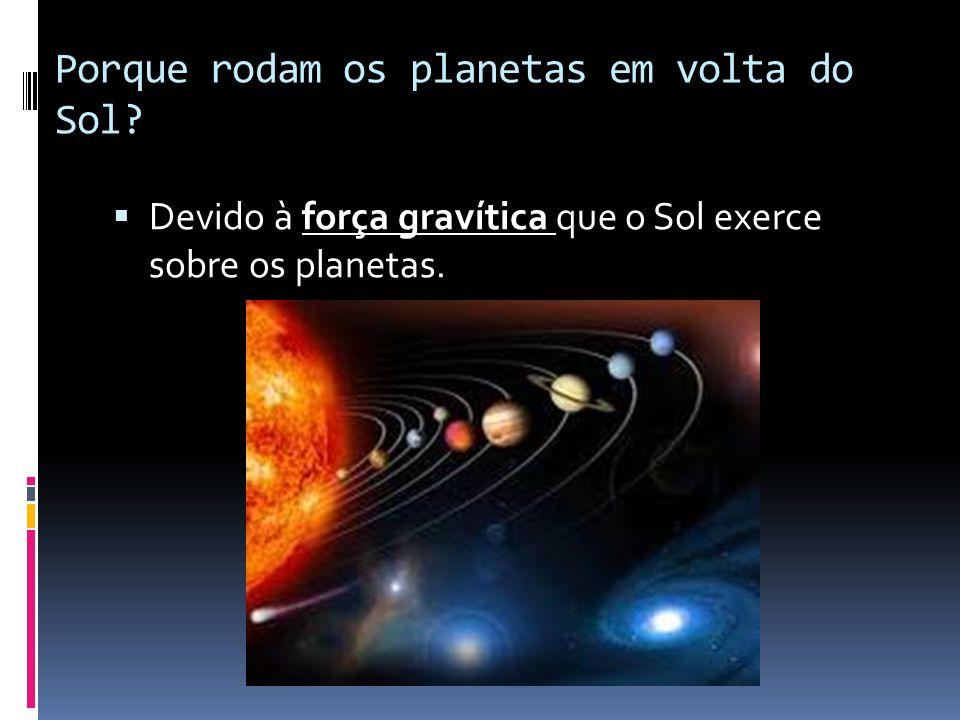 Porque rodam os planetas em volta do Sol