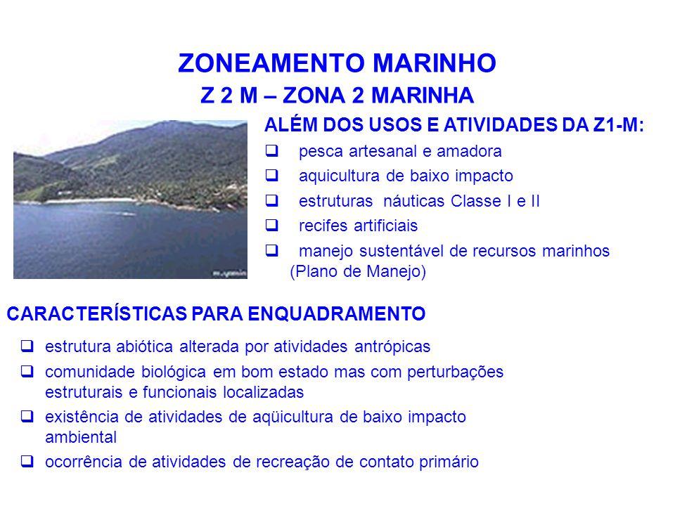 ZONEAMENTO MARINHO Z 2 M – ZONA 2 MARINHA