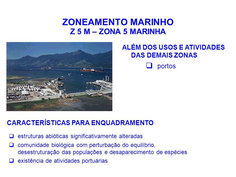 ZONEAMENTO MARINHO Z 5 M – ZONA 5 MARINHA portos
