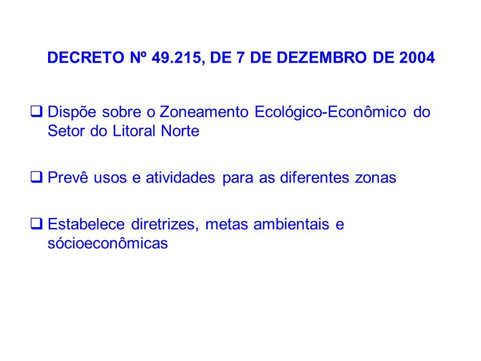 DECRETO Nº 49.215, DE 7 DE DEZEMBRO DE 2004