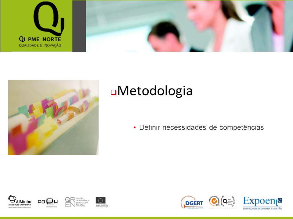 Metodologia Definir necessidades de competências