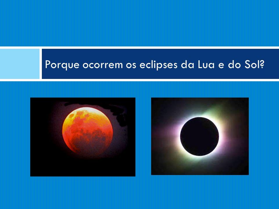 Porque ocorrem os eclipses da Lua e do Sol