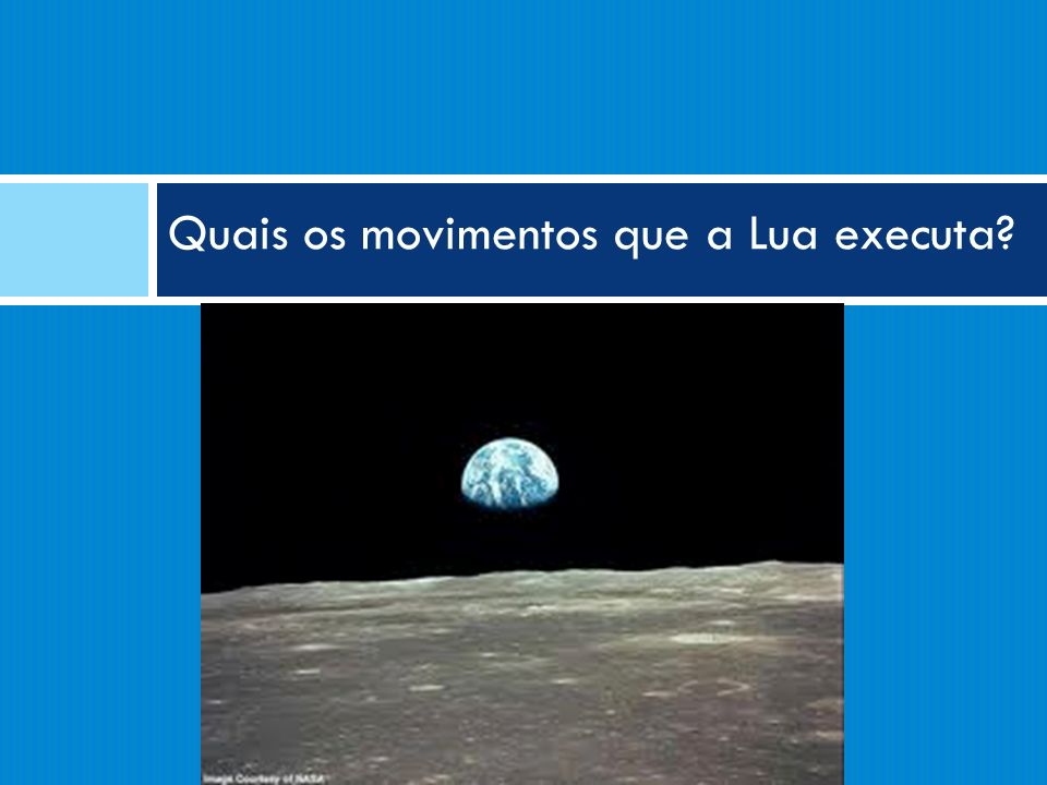 Quais os movimentos que a Lua executa