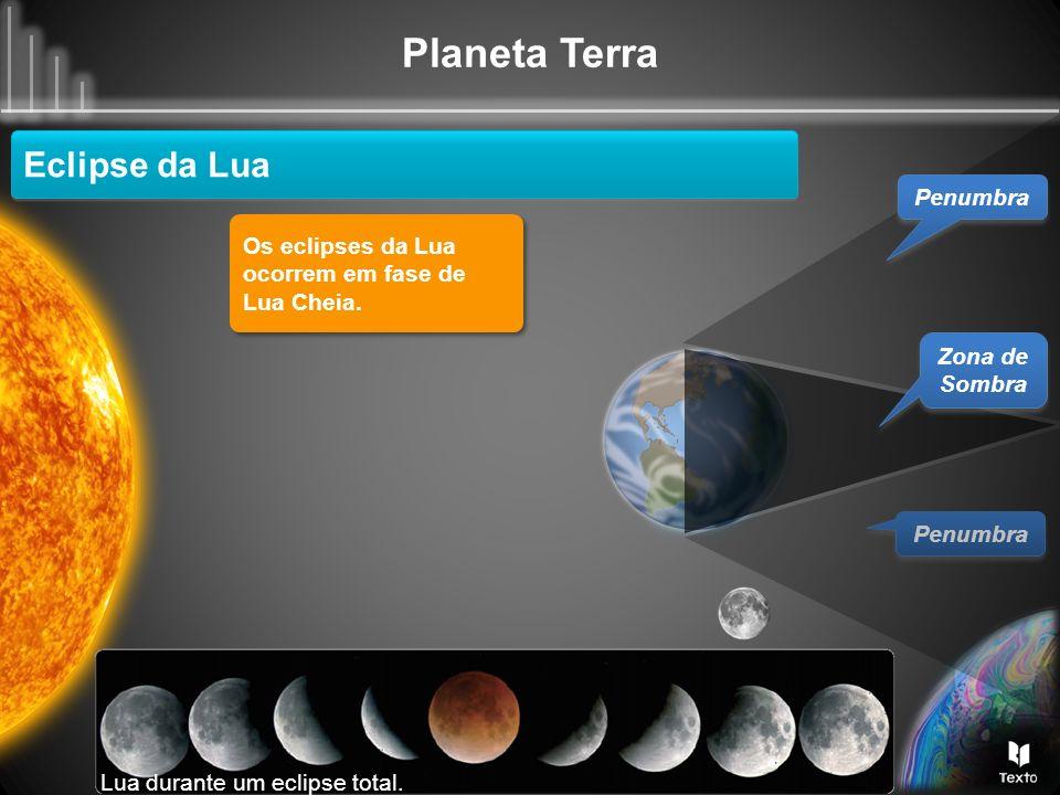 Eclipse da Lua Penumbra Os eclipses da Lua ocorrem em fase de