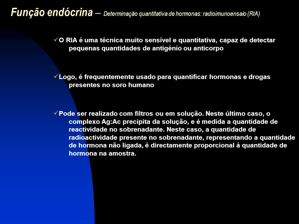 Função endócrina – Determinação quantitativa de hormonas: radioimunoensaio (RIA)