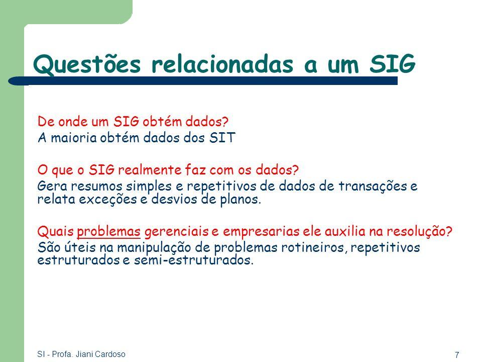 Questões relacionadas a um SIG