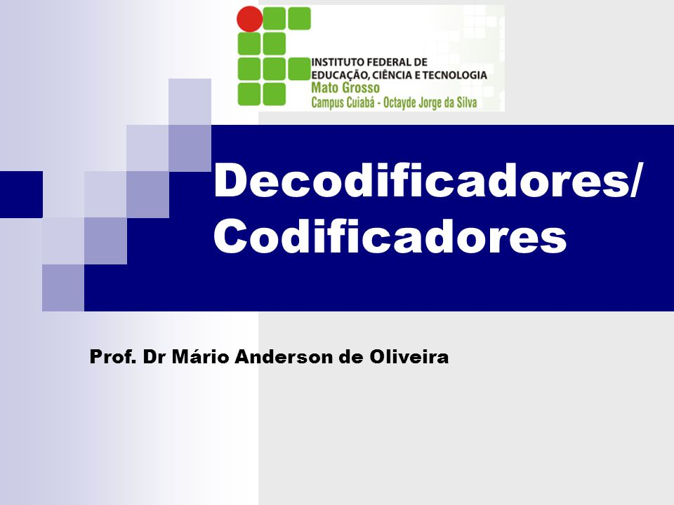 Decodificadores/ Codificadores