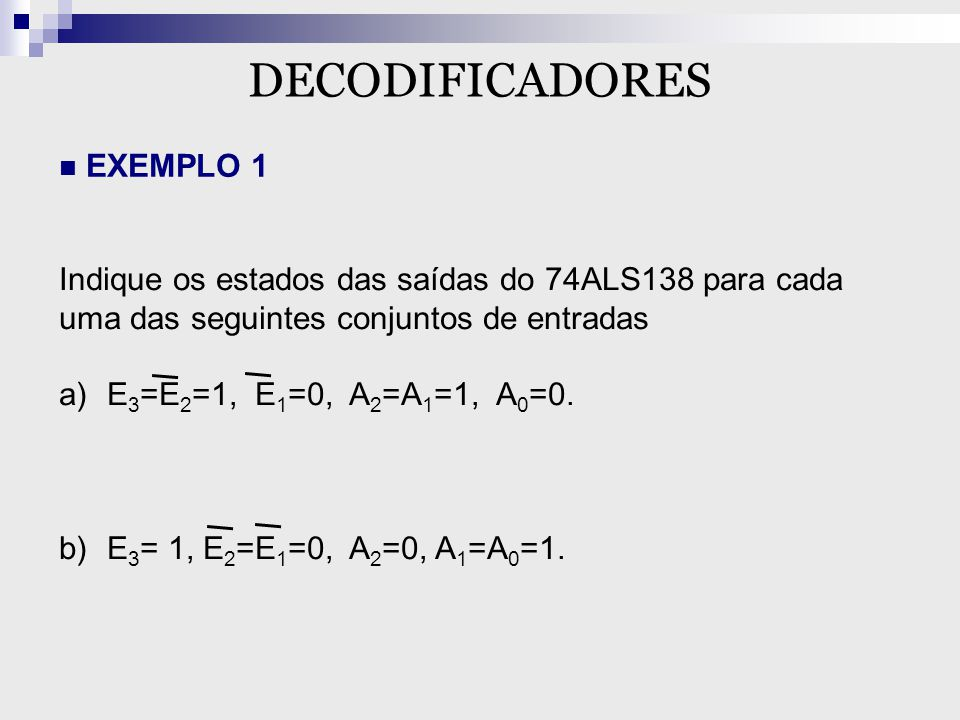 DECODIFICADORES EXEMPLO 1