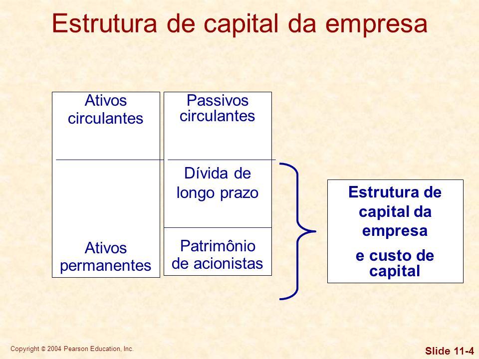 Estrutura de capital da empresa