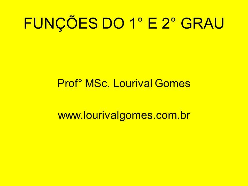 Prof° MSc. Lourival Gomes www.lourivalgomes.com.br
