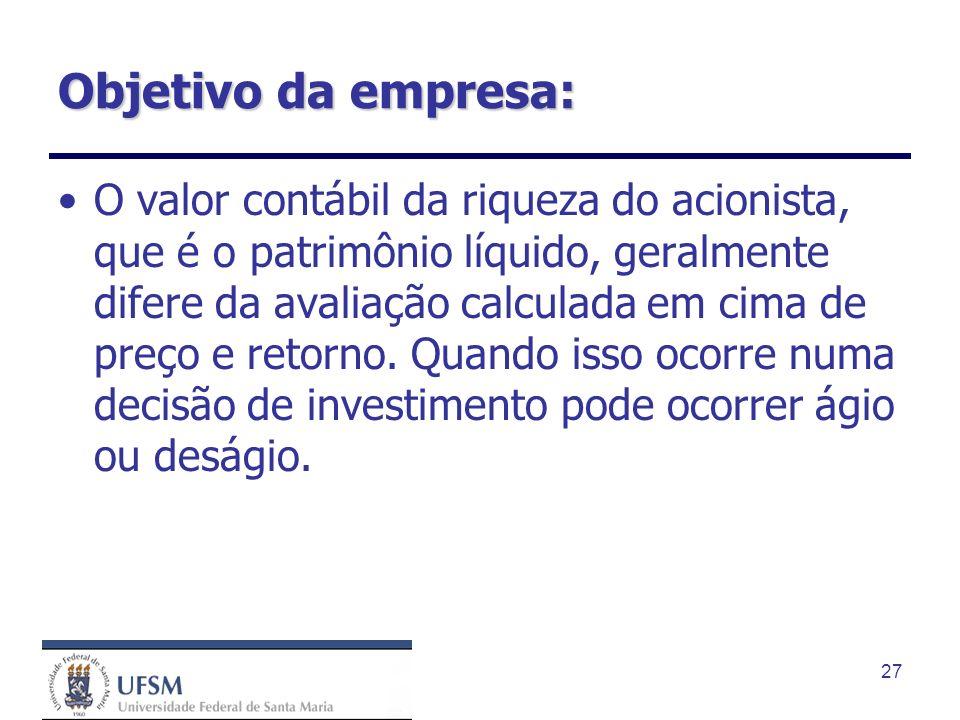 Objetivo da empresa: