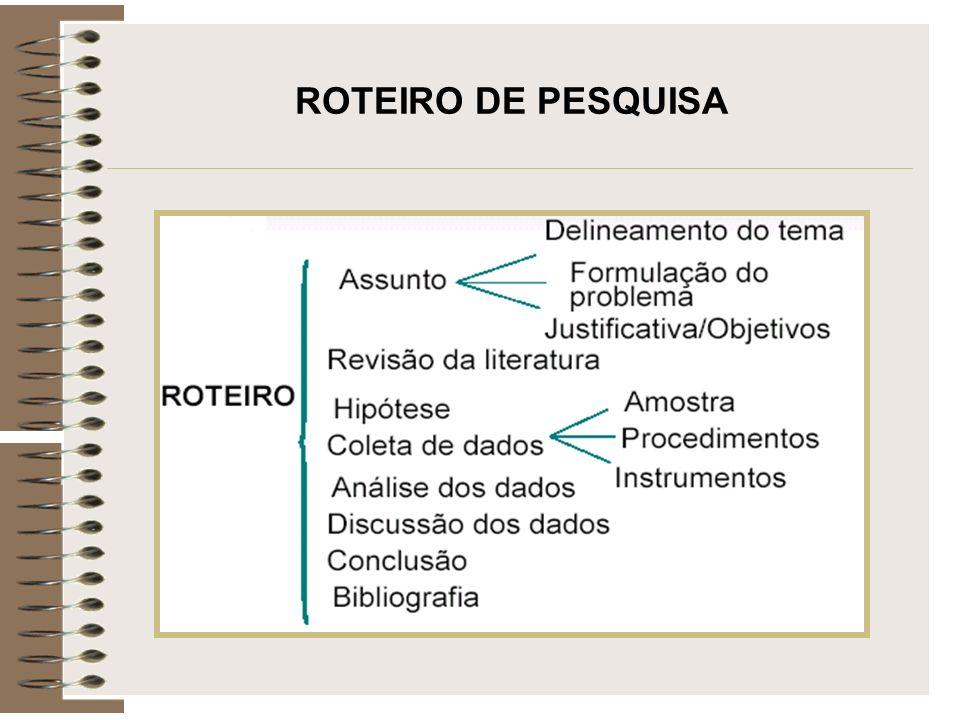ROTEIRO DE PESQUISA