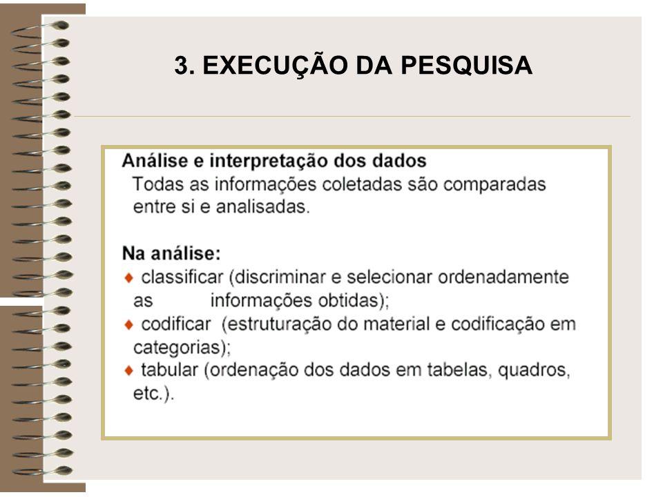 3. EXECUÇÃO DA PESQUISA