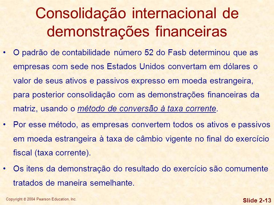 Consolidação internacional de demonstrações financeiras