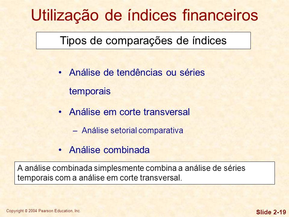Utilização de índices financeiros