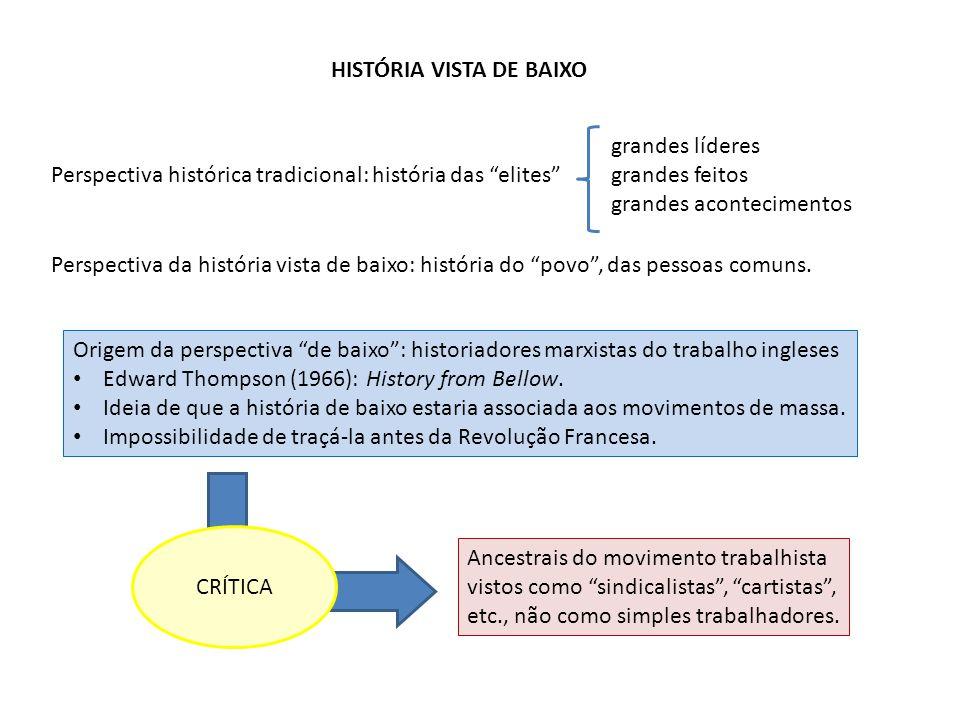 HISTÓRIA VISTA DE BAIXO