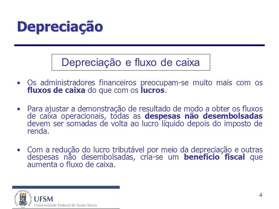 Depreciação e fluxo de caixa