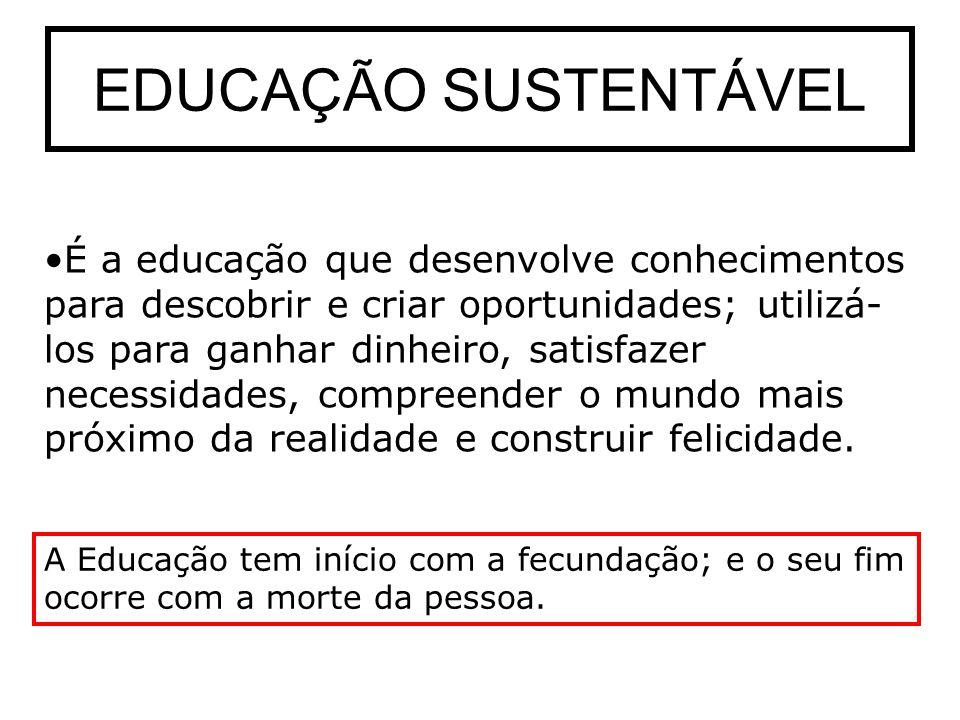 EDUCAÇÃO SUSTENTÁVEL