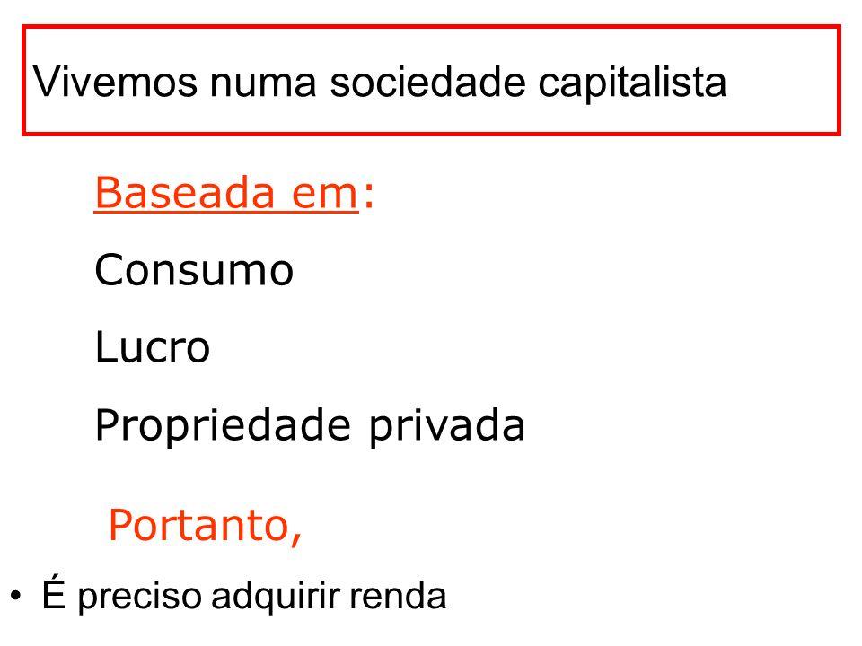 Vivemos numa sociedade capitalista