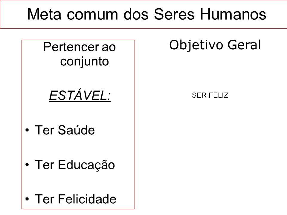 Meta comum dos Seres Humanos