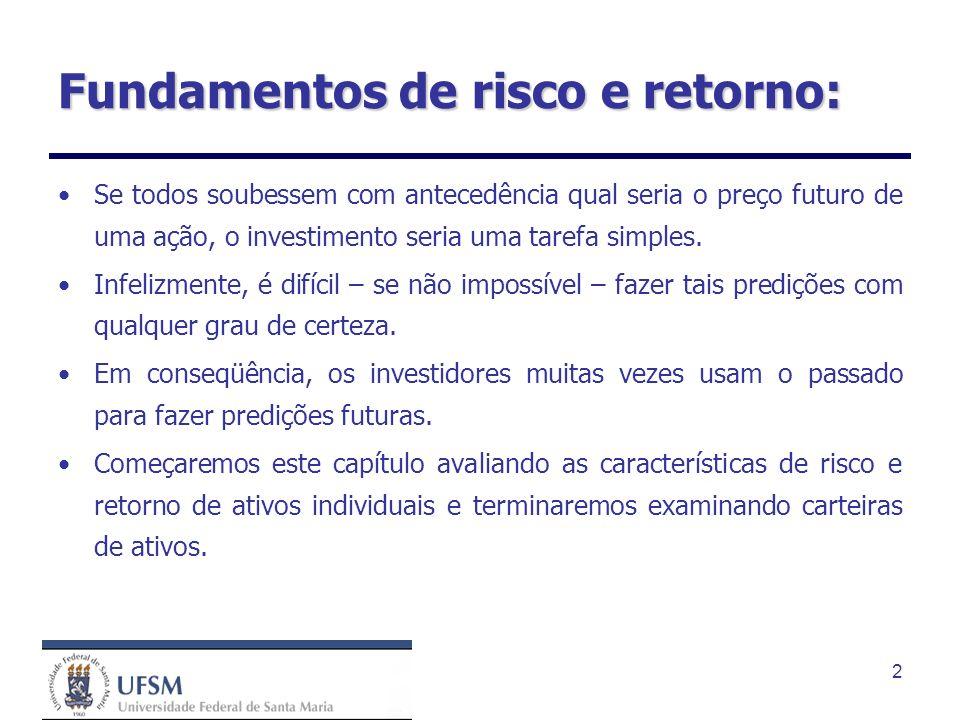 Fundamentos de risco e retorno: