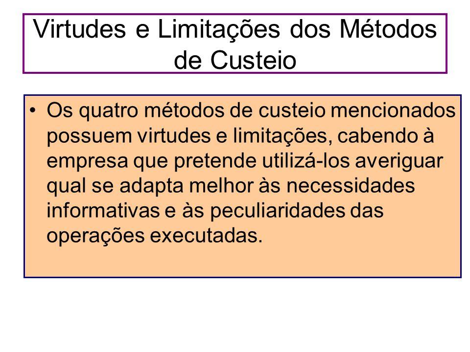 Virtudes e Limitações dos Métodos de Custeio