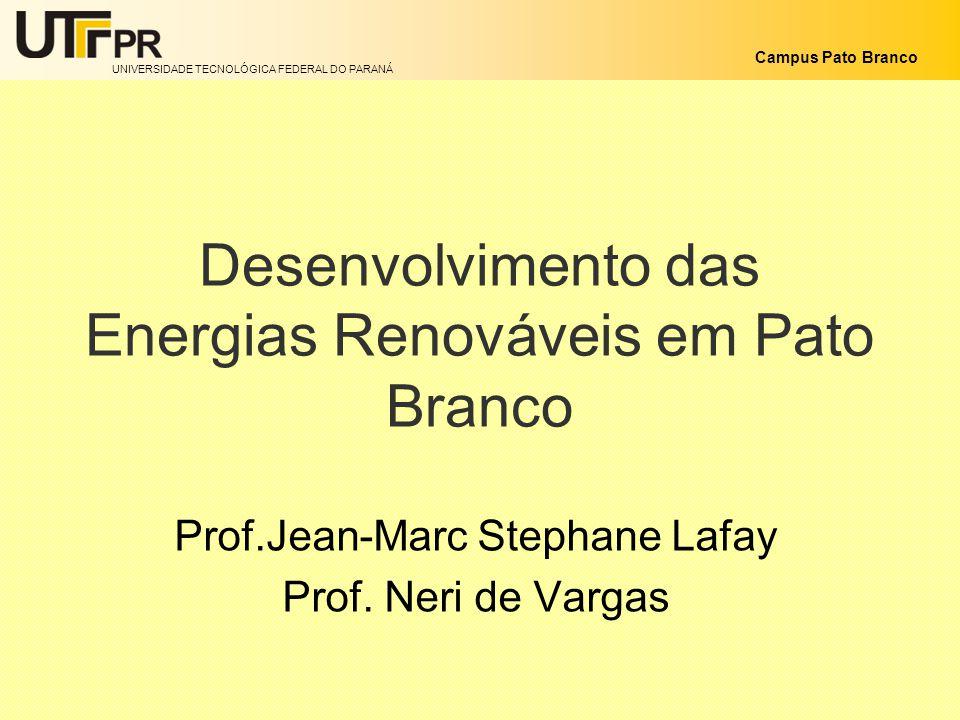 Desenvolvimento das Energias Renováveis em Pato Branco