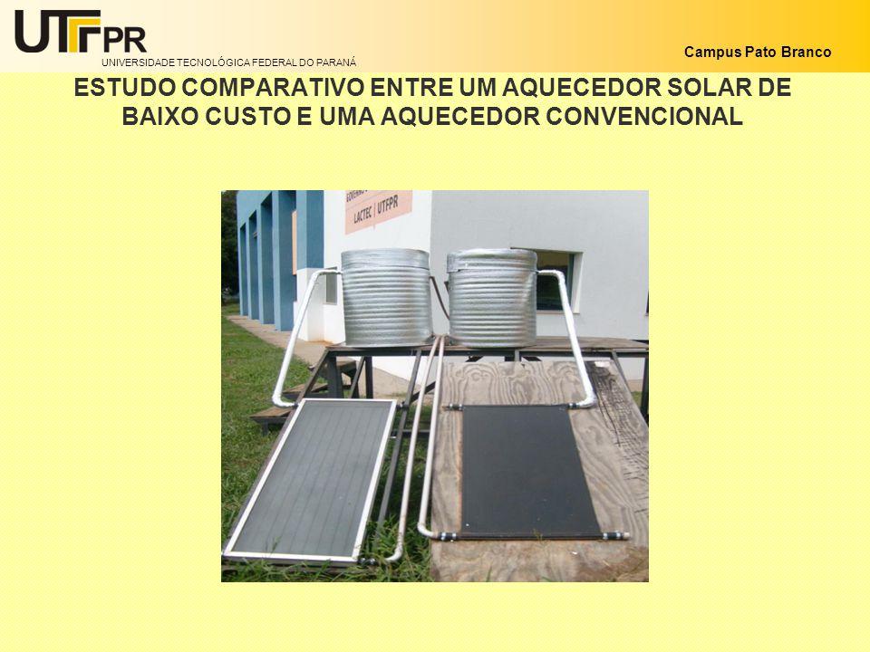 ESTUDO COMPARATIVO ENTRE UM AQUECEDOR SOLAR DE BAIXO CUSTO E UMA AQUECEDOR CONVENCIONAL