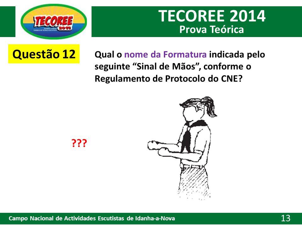 Questão 12 Qual o nome da Formatura indicada pelo seguinte Sinal de Mãos , conforme o Regulamento de Protocolo do CNE